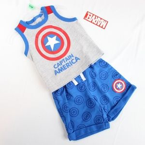 Marvel Captain America Baby Boy 2 Piece Outfit